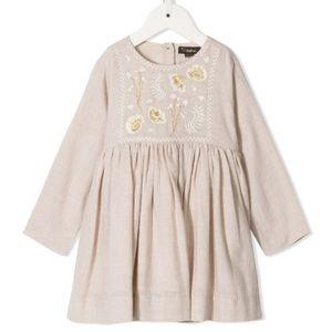 Velveteen Camille Infant Embroidered Floral Dress